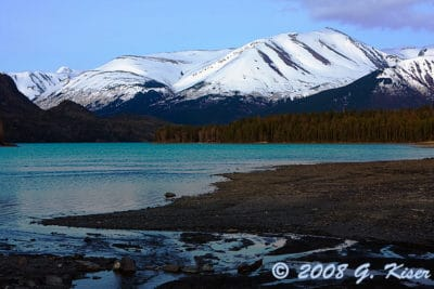 Green Glacial Waters