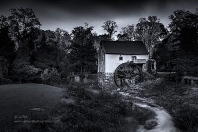 Old Mill of Guilford in B&W