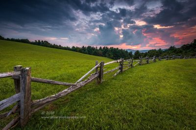 Split Rail Sunset