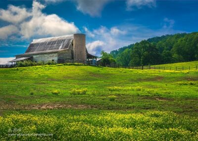 """Barn on the Hill"",   Canon 5D Mk3, 24-70mm f/2.8L Mk2, Singh-Ray Color Combo Polarizer, Four Image HDR in Lightroom"