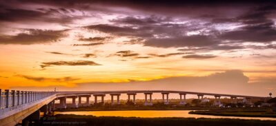 """Surf City Bridge"",   Canon 5D Mk3, 70-200mm f/2.8L Mk2, Singh-Ray Galen Rowell 3-Stop Soft ND Grad"