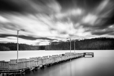 """Pier Pressure"",   Canon 5D Mk3, 24-70mm f/2.8L Mk2, Singh-Ray Color Combo Polarizer, Galen Rowell 2-stop soft edge ND Grad, and 10-stop Mor Slo ND Filter, Converted to B&W in Lightroom"