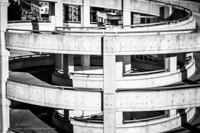 """Down the Spiral"",   Canon 5D Mk3, 70-200mm f/2.8L Mk2, Singh-Ray Color Combo Polarizer, Converted to B&W in Lightroom"