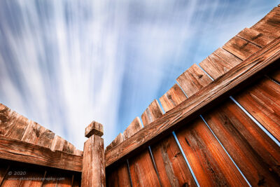"""Fenced In"",   Canon 5D Mk3, 16-35mm f/2.8L Mk2, Singh-Ray 15-stop Mor Slo ND Filter, 190 seconds"