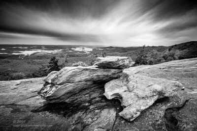 """High Country Rain"",   Canon 5D Mk3, 16-35mm f/2.8L Mk2, Singh-Ray Galen Rowell 2-stop soft and 2-stop hard ND Grad, Converted to B&W in Lightroom"