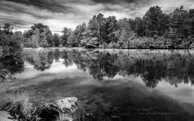 """Down by the Lake"",   Canon 5D Mk3, 24-70mm f/2.8L Mk2, Singh-Ray Color Combo Polarizer, Galen Rowell 2-stop hard ND Grad, Converted to B&W in Lightroom"