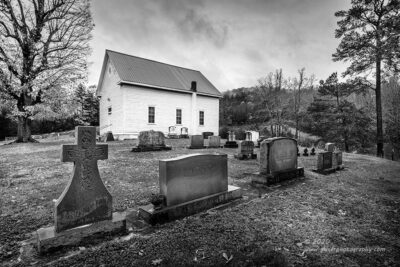 """""""The Family Church"""",   Canon 5DS R, 16-35mm f/2.8L Mk2, Singh-Ray Galen Rowell 3-stop soft ND Grad, Converted to B&W in Lightroom"""