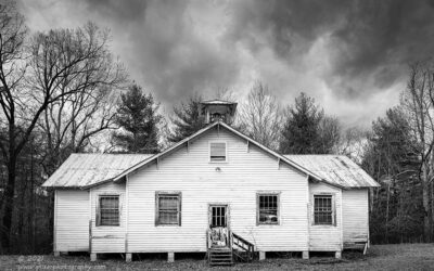 """""""Grade School"""",   Canon 5DS R, 16-35mm f/2.8L Mk2, Singh-Ray Color Combo Polarizer, Galen Rowell 2-stop soft ND Grad, Converted to B&W in Lightroom"""
