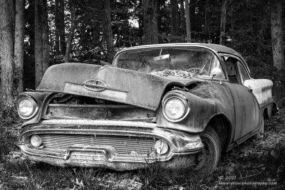 """""""Olds Timer"""",   Canon 5DS R, 24-70mm f/2.8L Mk2, Singh-Ray Color Combo Polarizer, Converted to B&W in Lightroom."""
